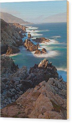 Along The Coastline Wood Print