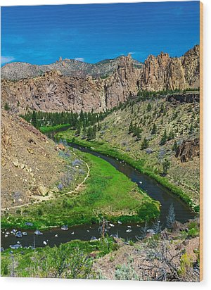 Along The Crooked River Wood Print