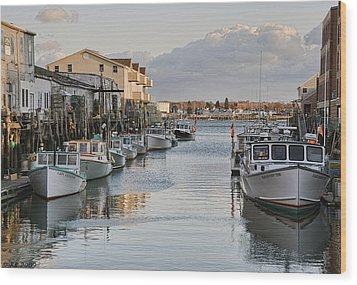 Wood Print featuring the photograph Along The Docks by Richard Bean
