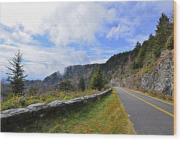 Along The Highway Wood Print by Susan Leggett