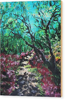 Along The Path Wood Print