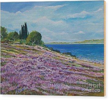 Along The Shore Wood Print by Sinisa Saratlic