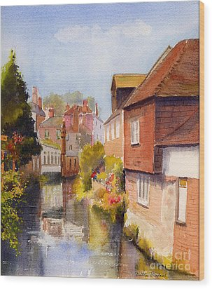 Along The Stour Canterbury Wood Print