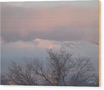 Wood Print featuring the photograph Alpenglow by Deborah Moen
