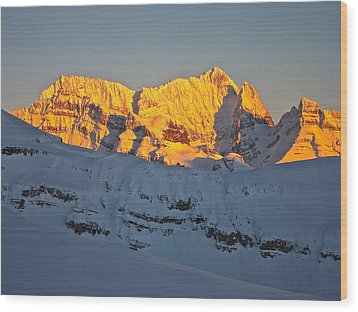 Alpenglow In Canada Wood Print