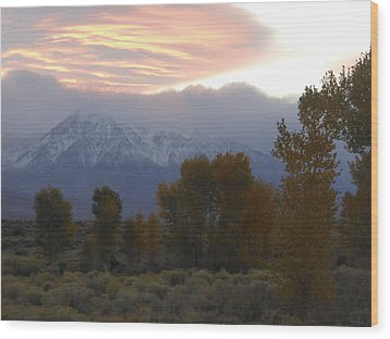 Alpenglow Over Mt Tom Wood Print by Don Kreuter