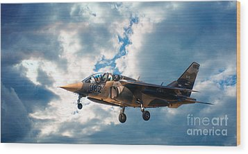 Alpha Jet 082 Wood Print by Bianca Nadeau