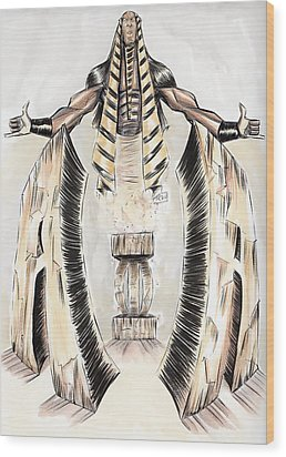 Alpha Pharaoh  Wood Print by Tu-Kwon Thomas