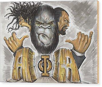 Alpha Phi Alpha Fraternity Inc Wood Print by Tu-Kwon Thomas