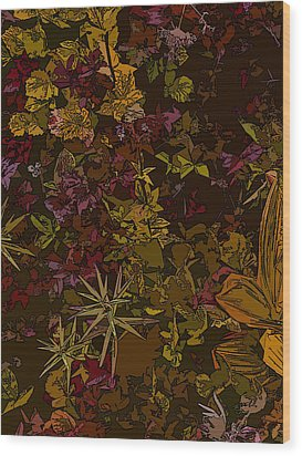 Alpine Groundcover Wood Print by Anne Havard