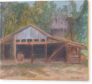 Alpine Groves Fruit Packing Shed Wood Print