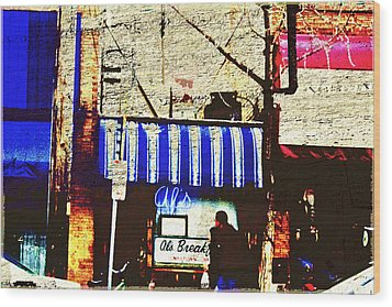 Al's Breakfast And U Of M Wood Print by Susan Stone