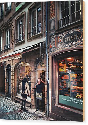 Wood Print featuring the photograph Alsace Slice Of Life by Jim Hill