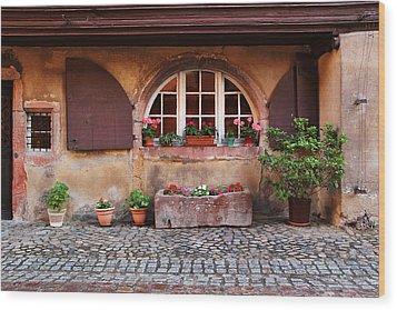 Alsatian Home In Kaysersberg France Wood Print by Greg Matchick
