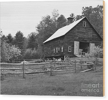 Alstead Barn Wood Print