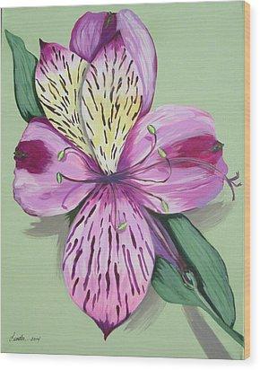 Alstroemeria No.1 Wood Print