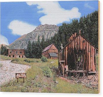 Alta In Colorado Wood Print by Guido Borelli