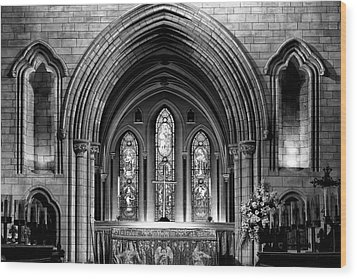 Altar At St Patricks Cathedral - Close Up Wood Print by Photography  By Sai
