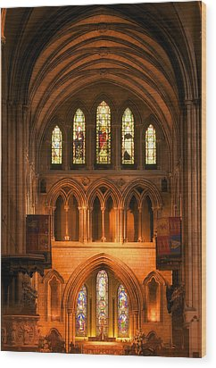 Wood Print featuring the photograph Altar Of St. Patrick's Cathedral by Photography  By Sai
