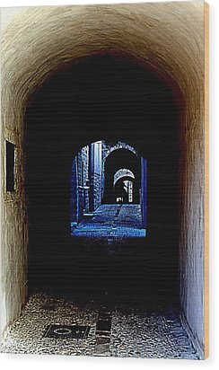 Altered Arch Walkway Wood Print