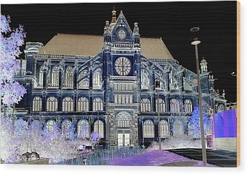 Altered Image Of Saint Eustache In Paris France Wood Print by Richard Rosenshein