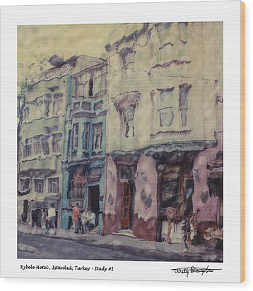 Altered Polaroid - Kybele Hotel 1 Wood Print by Wally Hampton