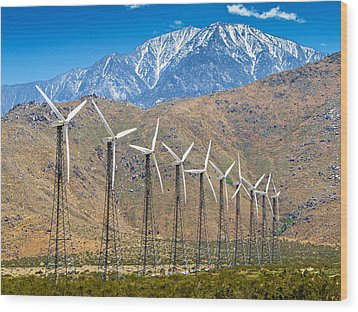 Alternative Power Wind Turbines Wood Print