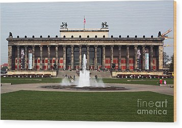 Altes Museum In Berlin Wood Print by John Rizzuto