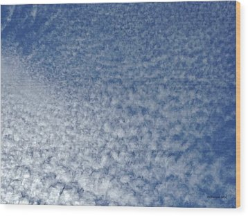 Wood Print featuring the photograph Altocumulus Clouds by Jason Williamson