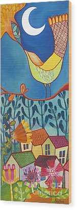 Wood Print featuring the painting Always Kiss Me Good Night by Carla Bank