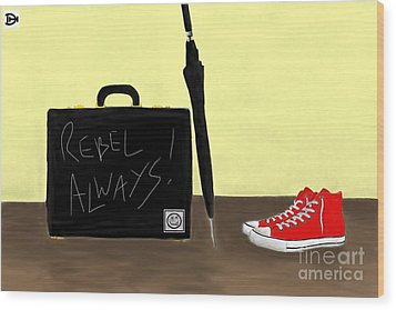 Always...rebel.... Wood Print by Andy Heavens