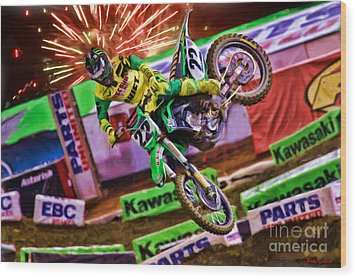 Ama 450sx Supercross Chad Reed Wood Print