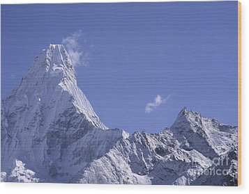 Wood Print featuring the photograph Ama Dablam Nepal by Rudi Prott
