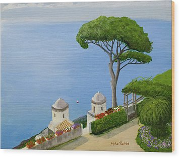 Amalfi Coast From Ravello Wood Print by Mike Robles