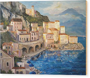 Amalfi Coast Highway Wood Print