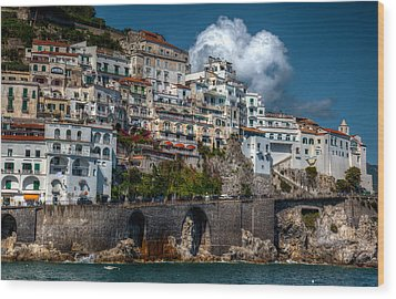 Wood Print featuring the photograph Amalfi Coast by Uri Baruch