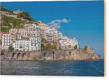 Amalfi Hills Wood Print