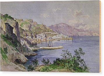 Amalfi Wood Print by Ludwig Hans Fischer