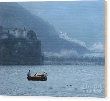 Wood Print featuring the photograph Amalfi To Capri. Italy by Jennie Breeze