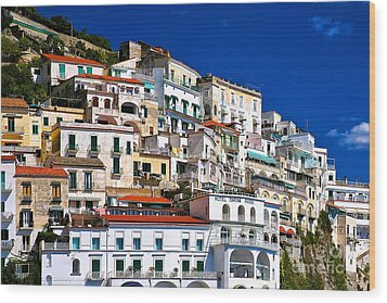 Amalfi Architecture Wood Print