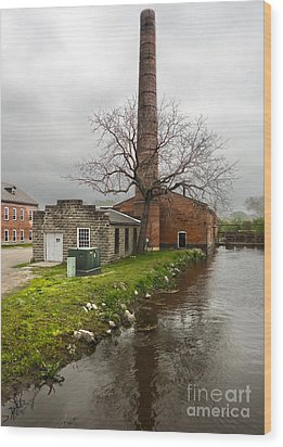 Amana Colonies Old Brewery - 03 Wood Print by Gregory Dyer