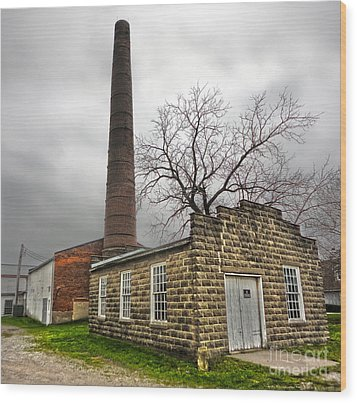 Amana Colonies Old Brewery - 01 Wood Print by Gregory Dyer