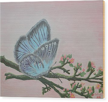 Amandas Blue Dream Wood Print