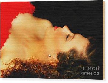 Amanda's Silhouette Wood Print