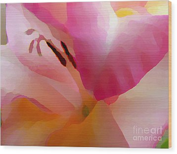 Gladiola Photo Painting Wood Print by Rich Collins