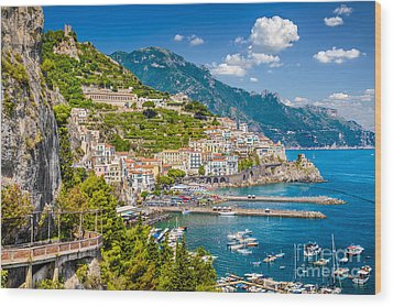 Amazing Amalfi Wood Print