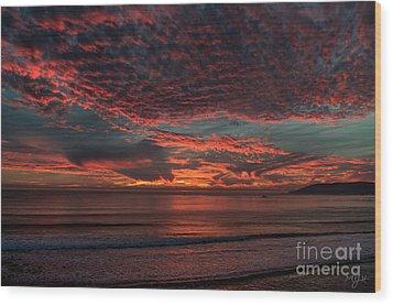 Amazing Blazing Sunset Wood Print