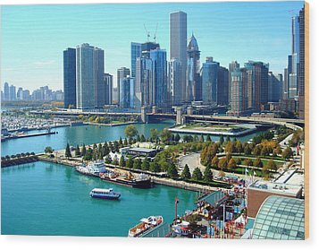 Amazing Chicago Wood Print by Kay Gilley