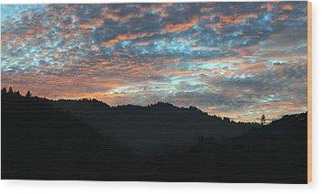 Amazing Evening Sky Wood Print by Haleh Mahbod