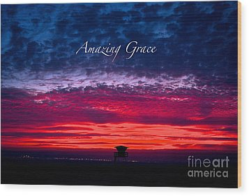 Wood Print featuring the photograph Red Sky At Night by Margie Amberge